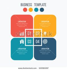 Infographics template four options with square. Can be used for workflow layout, diagram, number options, step up options, web design, presentations Image Infographics, Infographic Templates, Ui Design, Design Elements, Organizational Chart, Powerpoint Free, Information Design, Presentation Design, Lorem Ipsum