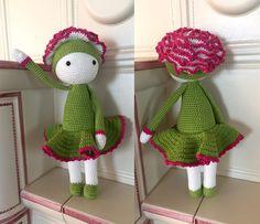 Garofano Cati flower doll made by Fabia C - crochet pattern by Zabbez