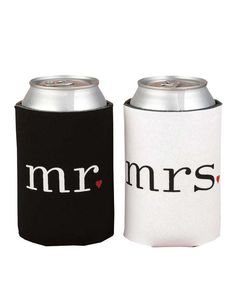 The Mr. and Mrs. Beer Koozies are Perfect for #Drinking #Couples trendhunter.com