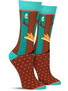 Green Fox Socks | Womens