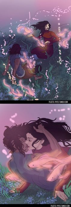 Korra x Asami - korrasami - Passeio romântico no mundo dos espíritos