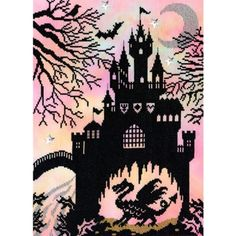 Bothy Threads Fairy Tales Enchanted Dragon Castle Counted Cross Stitch Kit
