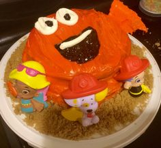 Lex's 3rd birthday cake I made  bubble guppies