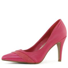Save 10% + Free Shipping Offer * | Coupon Code: Pinterest10 Material: Man Made Material Brand: Qupid Product Code: Mariah-05 Fuchsia Spice up your wardrobe with this simple and stylish pump. Featuring patent leather pointy front, follows with a layer of vegan snake skin and soft PU leather in the back. Walkable heel height is about 3.75 inches tall. Easy to slip on/off. Cushioned insole and perfect for everyday wear. Women's Qupid Mariah-05 Fuchsia Three Tones Pointy Toe Pumps