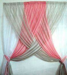 Simple, easy to do curtain idea. #unique #curtain. Will definitely try. .. different colors though