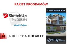 AutoCAD LT 2015 + SketchUp Pro 2015 PL WIN + V-RAY