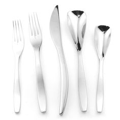 @Overstock.com - Splendide 'Isla' 45-piece Stainless Steel Flatware Set - This Splendide 'Isla' flatware set is constructed of 18/10 stainless steel with an attractive, highly polished finish. The pieces in this set display a decidedly modern style with smooth, unbroken lines and attractive curves.  http://www.overstock.com/Home-Garden/Splendide-Isla-45-piece-Stainless-Steel-Flatware-Set/7971512/product.html?CID=214117 $129.99