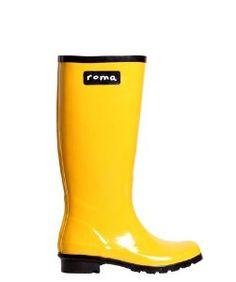 Roma BootsRoma Boots Glossy Yellow Rain Boots