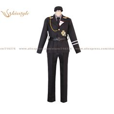 Kisstyle Fashion APH Hetalia: Axis Powers Prussia Gilbert SS Uniform COS Clothing Cosplay Costume,Customized Accepted