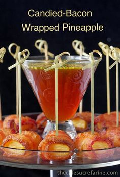 candied-bacon wrapped pineapple