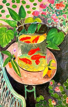 I have this in my boudoir... The Goldfish, Henri Matisse... oui oui oui a reproduction by Fifi