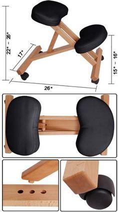 Офисное деревянное кресло для спины.