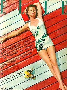 ELLE Cover in the 50's.