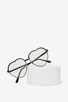 Clear Heart Glasses