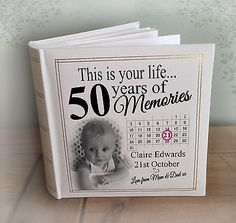 Personalised large photo album, 200 x photos, birthday memories gift Birthday Survival Kit, Mom Survival Kit, Birthday Surprise For Mom, Birthday Presents For Mom, Photo Album Storage, This Is Your Life, 80th Birthday, Birthday Ideas, Birthday Parties