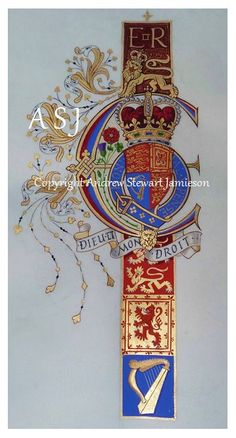 Coats of Arms, Heraldry, Heraldic Art & Illuminated Manuscripts painted by English Artist Andrew Stewart Jamieson in Illuminated Letters, Illuminated Manuscript, Medieval, Illumination Art, English Artists, Book Of Hours, Letter Art, Calligraphy Art, Coat Of Arms