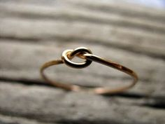 simple tying the knot engagement ring. love how simple it is