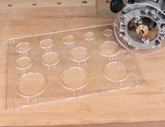 Improved Circle & Radius Template - With Twelve Circle & Four Radius Patterns!