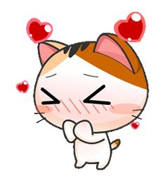 Gojill The Meow Animated Cute Love Gif, Cute Cat Gif, Cute Kawaii Backgrounds, Gif Lindos, Anime Kitten, Hug Gif, Pusheen Cute, Gif Dance, Neko