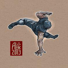 Encres : Capoeira – 417 [ #capoeira #digital #illustration]