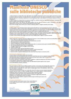 [Manifesto Unesco sulle biblioteche pubbliche: locandina]