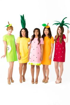 Easy Costume Ideas for Teachers - Studio DIY Diy Fruit Costume, Fruit Halloween Costumes, Food Costumes, Creative Costumes, Cute Costumes, Halloween Kostüm, Costume Ideas, Christmas Costumes, Halloween Outfits