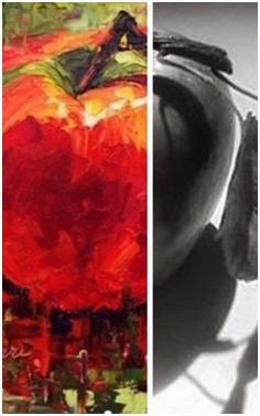 """Top Sources for Free Photographs – Are you looking for inspiration for your next art, craft or illustration project? There are thousands of free, downloadable images that you can use. Check out the directory of Free Art Reference Photos at TodaysArts.net ( Image: """"Apple a Day #2"""", Painted by Susan Barr, from a Black and White photo that's one of hundreds of free reference photographs on PMP-Art.com )"""