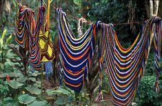bilum bags... handmade by the women of New Guinea