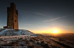 Castle Hill, Huddersfield, West Yorkshire, England http://www.petebarnesphotography.co.uk whenever I see this on the train I know I'm home!