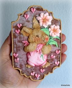 For Easter this year, I made this chocolate sugar cookie and decorated it using colored Royal Icing, with some dusting of edible powders to give depth. Big thanks go to Marta Torres, of The Cookie Lab – Bolachas Decoradas Artesanais, for giving me. Easter This Year, Easter 2018, Cookie Decorating, Decorating Tips, Chocolate Sugar Cookies, Royal Icing, Happy Day, Happy Easter, Give It To Me