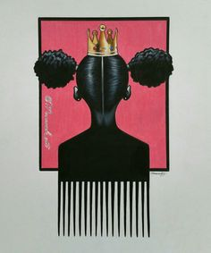 Little princess afro-pick , black art comes in canvas and poster print Black Love Art, Black Girl Art, Art Girl, Black Girl Tattoo, Black Girls, African American Art, African Art, Tattoo Platzierung, Wallpaper Fofos