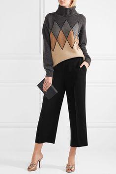 Prada - Cropped Crepe Straight-leg Pants - Black - IT36