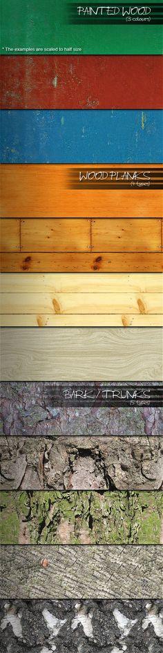 12 Seamless Wood Patterns