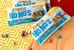 No No's Candy Coated Chocolate Pieces - No No's are deliciously milk-free bite sized chocolate coated candies that are free from nuts, gluten, and dairy. Contains SOY