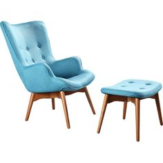 Found it at Wayfair - Huggy Mid Century Arm Chair & Ottoman Set Chair Upholstery, Wingback Chair, Swivel Chair, Chair And Ottoman Set, Mid Century Armchair, Lounge, Modern Dining Chairs, Modern Furniture, Furniture Ideas