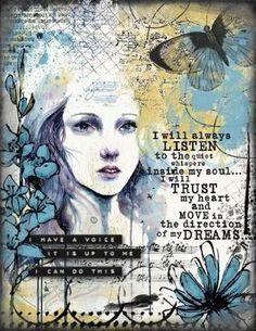 Art Journaling - Voice Within - Scrap Art Studio Gallery by Divonsir Borges
