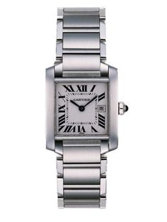 Cartier Tank Francaise Small Stainless Steel Bracelet Watch $4250