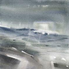 GRISAZUR: Acuarela sobre papel, 20x20 cm.Ago. 22, 2015