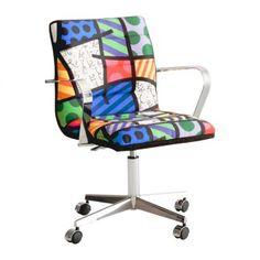 cadeiras de escritório coloridas
