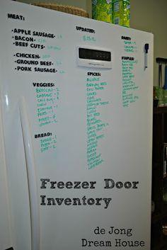 de Jong Dream House: Organizing the freezer