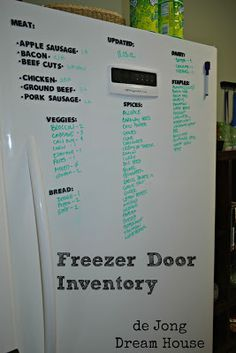 Organizing the freezer