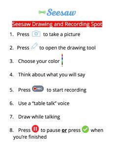 Recording Spot Poster – Seesaw Help Center