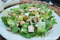 chicken and feta summer salad.  healthy