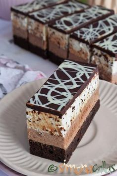 Sweets Recipes, Cookie Recipes, Cheesecake, French Pastries, Homemade Cakes, Sweet Desserts, Sweet Treats, Food And Drink, Mousse