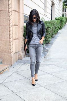 16 Cool Outfits With Grey Skinny Jeans For This Fall: Styleoholic waysify