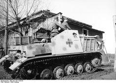 Marder II tank destroyer 'Kohlenklau' in Russia, spring 1943.
