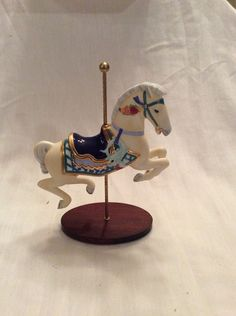Franklin Mint Carousel Horse, Nautilus