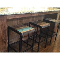 Timbergirl Industrial Reclaimed Wood and Iron Stool (India) | Overstock.com Shopping - The Best Deals on Stools