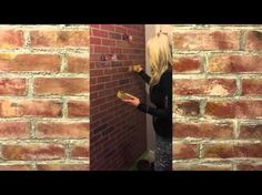 """Creating a """"faux"""" brick wall - YouTube"""