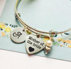 Mother of the Bride Bracelet, Mother of the Bride Jewelry, Wedding Bracelet, Mother of the Groom Jewelry, Adjustable Bracelet, Personalized